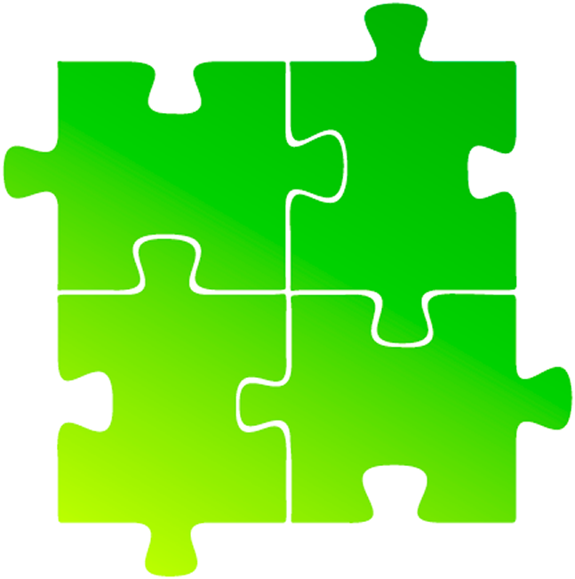 Jigsaw Puzzle Pieces, Green.png.
