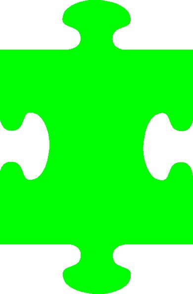 Puzzle Piece Green Clip Art at Clker.com.