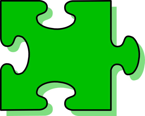 Green Puzzle Piece Clip Art at Clker.com.