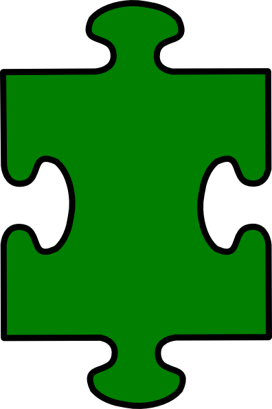 Puzzle Piece Green Clip Art at Clker.com.