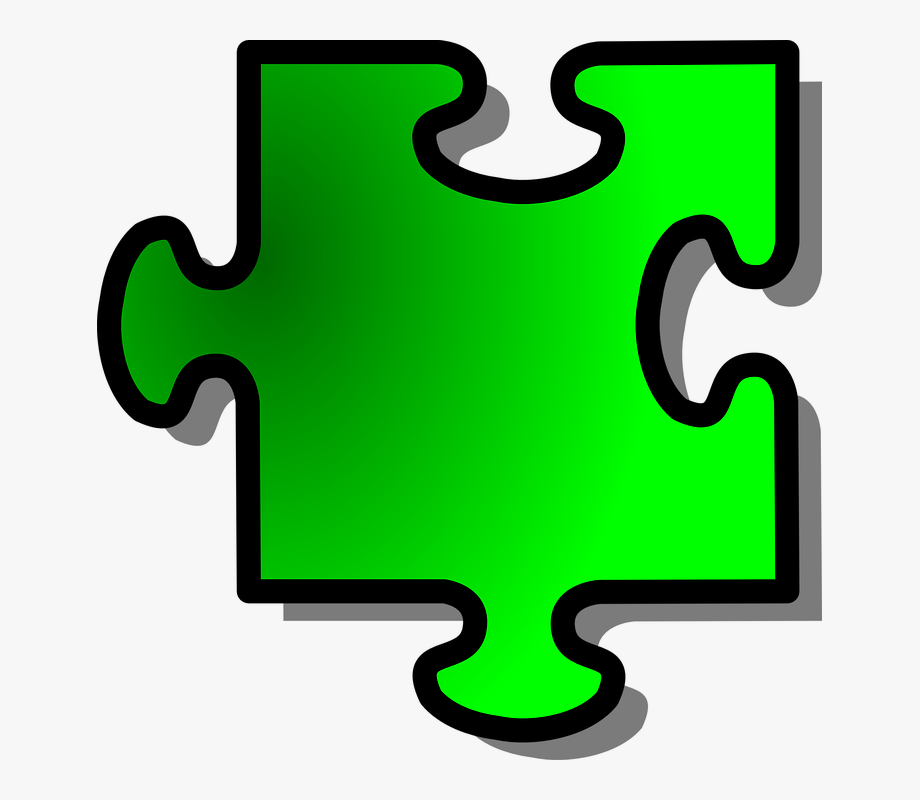 Jigsaw Puzzle Piece Green Join Connect Challenge.