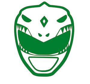 Mighty Morphin\' Power Rangers Green Ranger Vinyl Decal for  Car/Home/Yeti/Laptop.