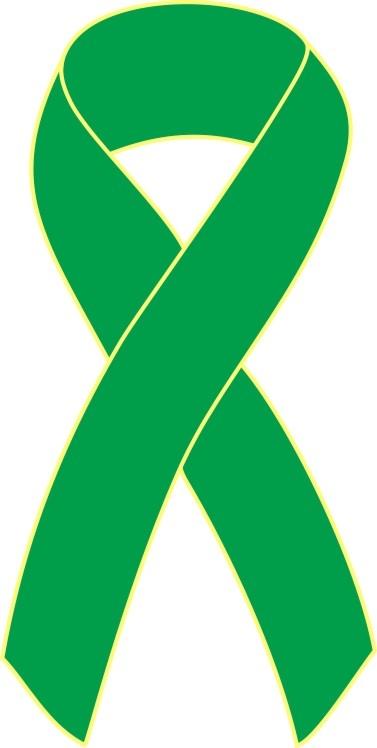 Green cancer ribbon clipart.