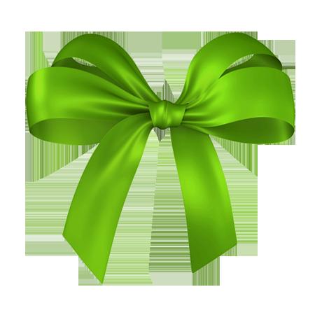 Green Ribbon Christmas Clipart.