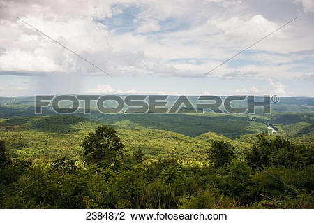 Stock Photo of Green Ridge State Forest and the Potomac River.