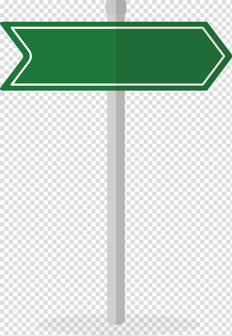 Green and white signage, Traffic sign Arrow Euclidean.