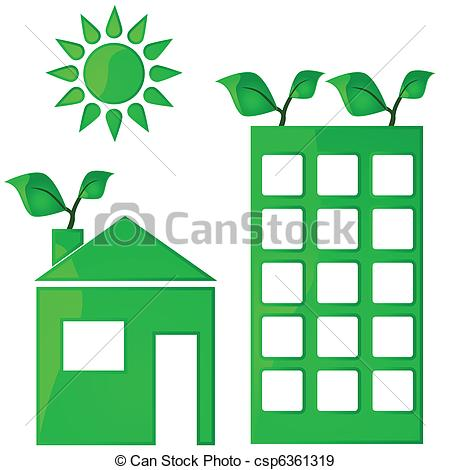 EPS Vectors of Green housing.