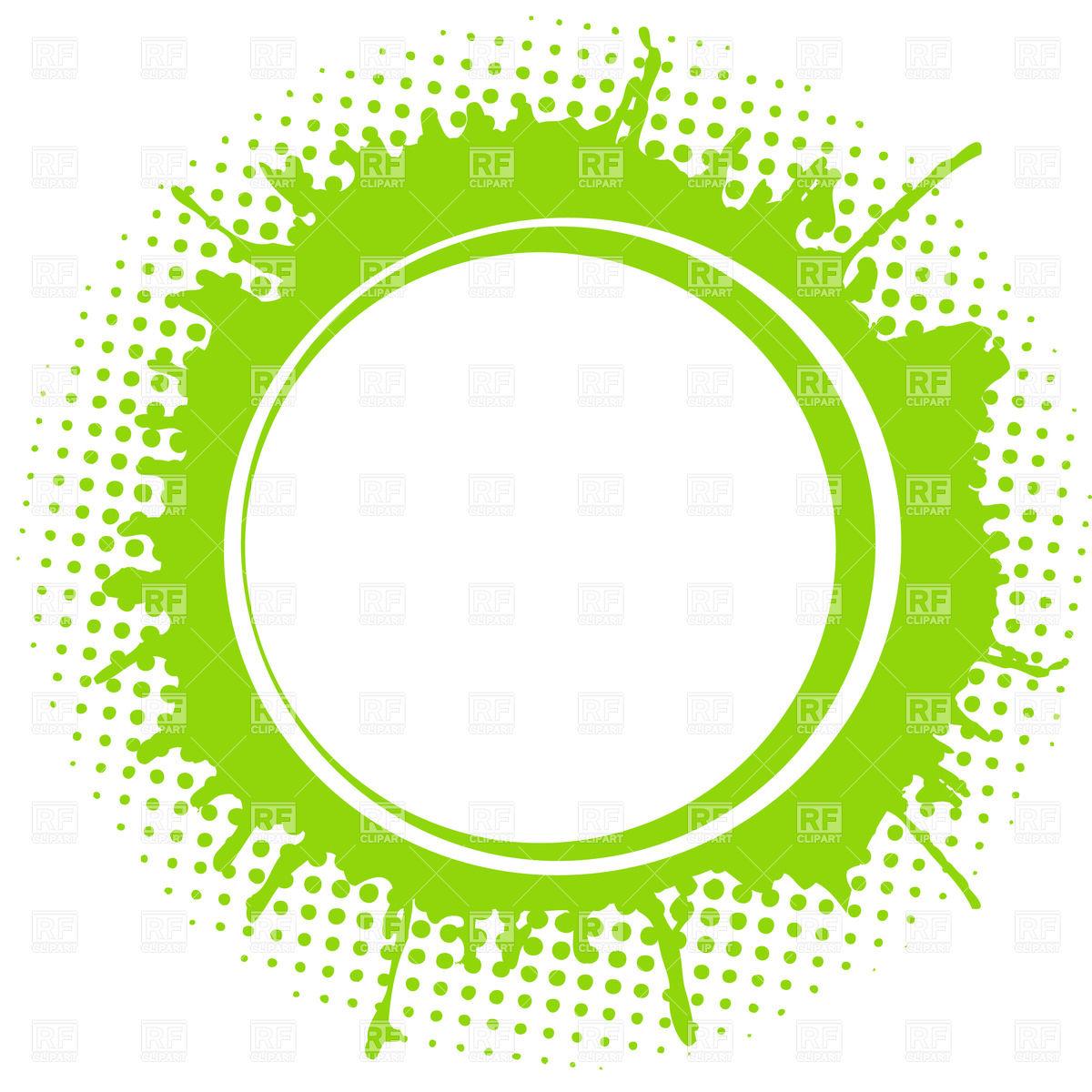 Green circle frame clipart.