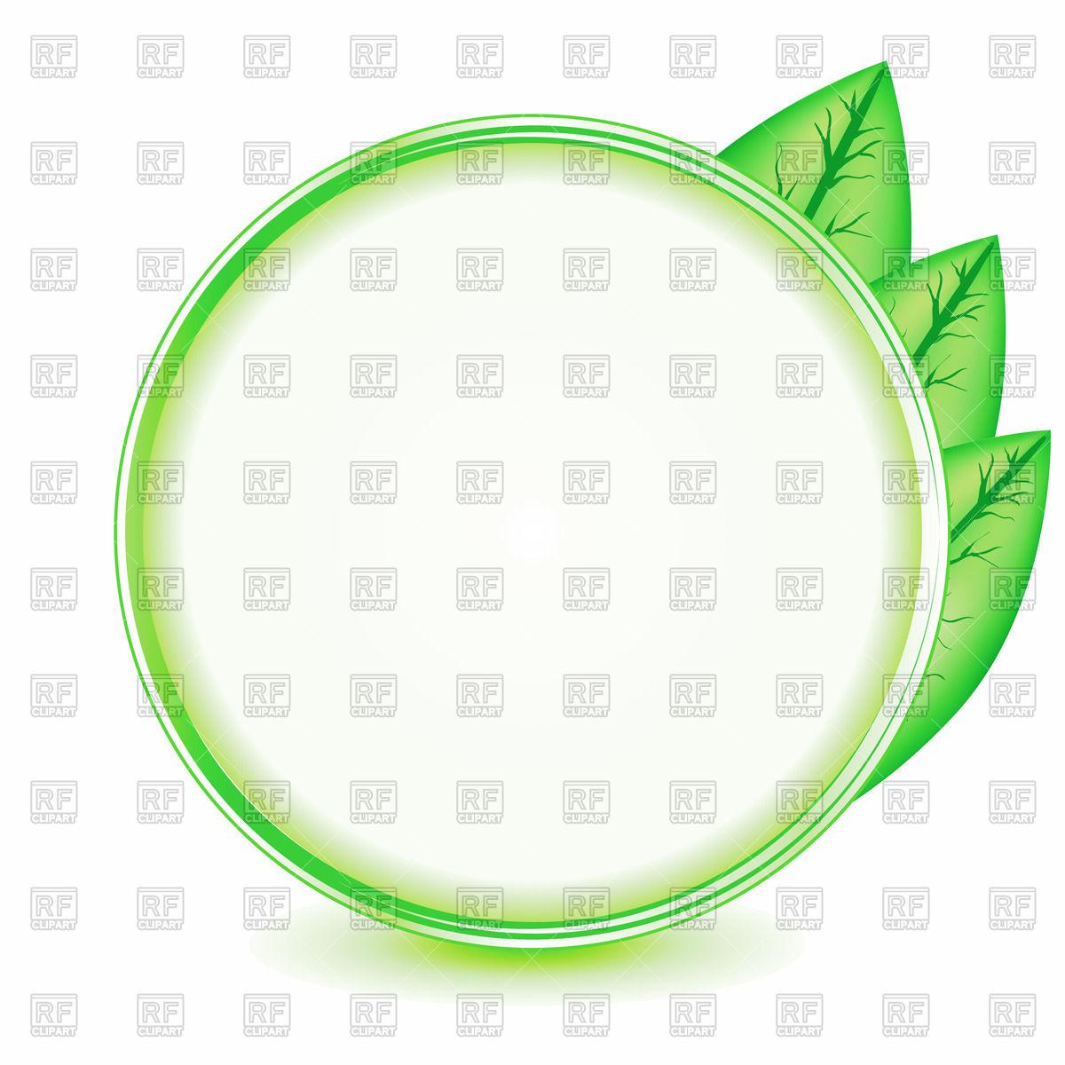 Green circular leaf clipart.