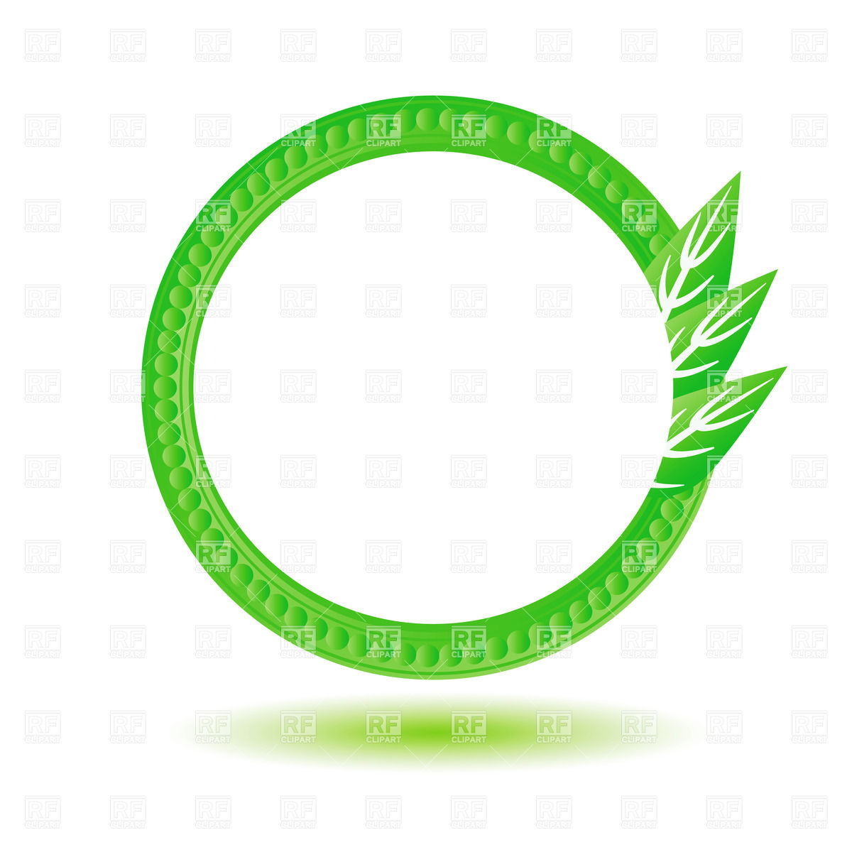 Green round eco frame (label, icon) Vector Image #39238.