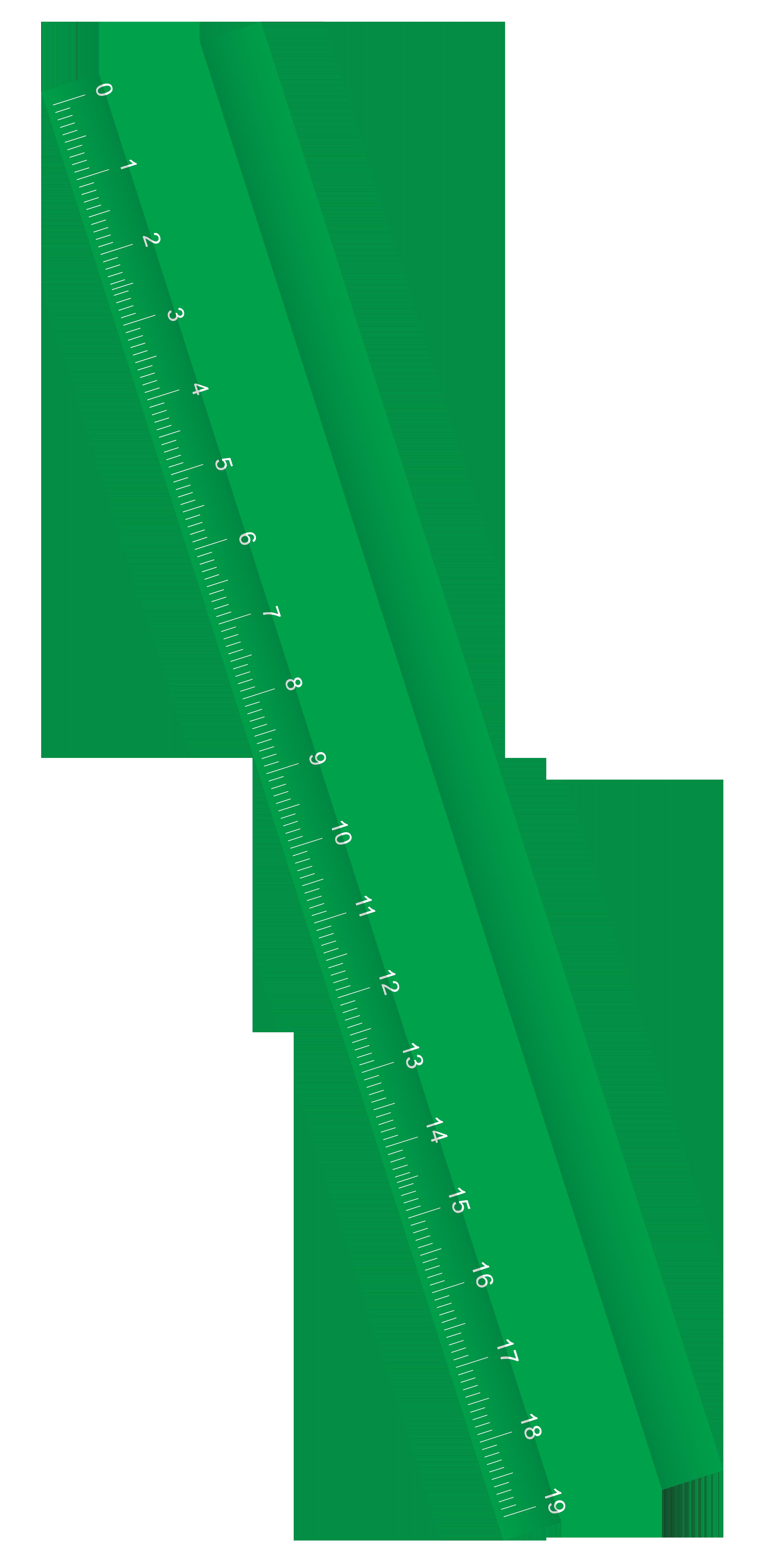 Green Ruler Clipart.