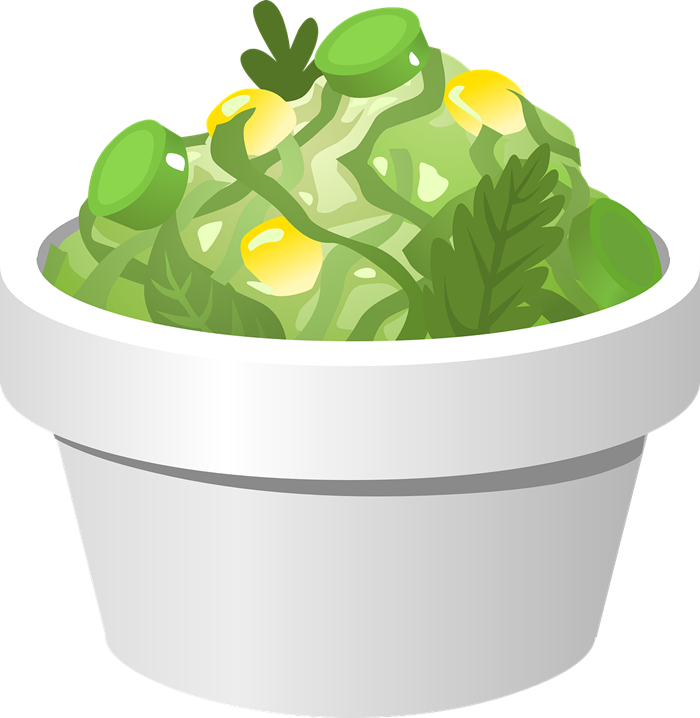 Free Bowl of Green Salad Clip Art.