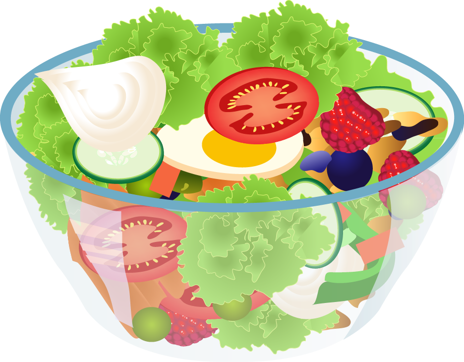 Green salad clipart.