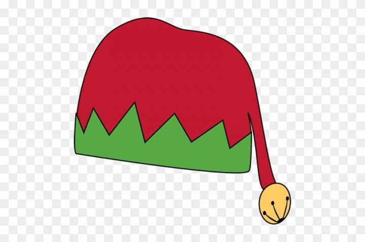 Elf Clipart Green Santa Hat.