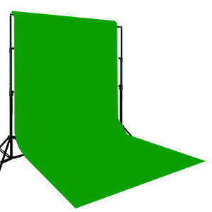 Details about 10x12 Muslin Chromakey Green Screen & Support Stand KIT.