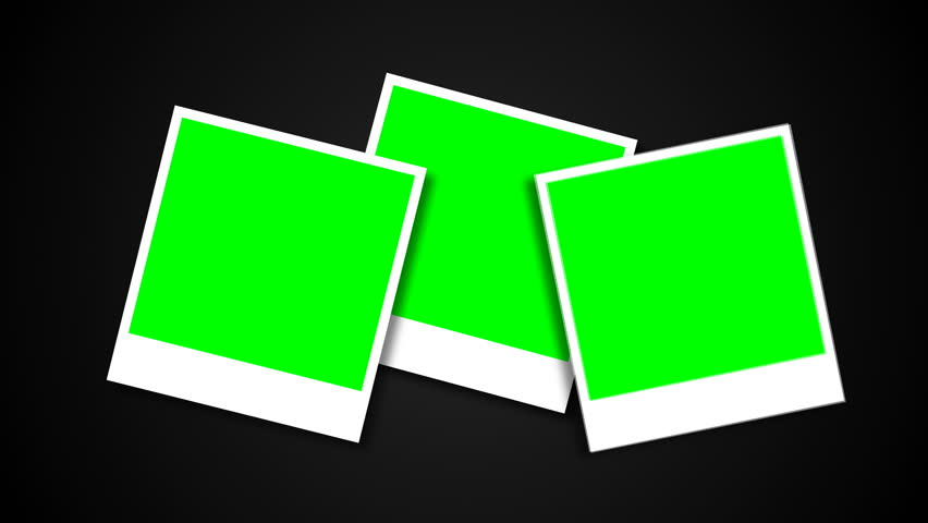 Picture Frames with Green Screen Stock Footage Video (100% Royalty.