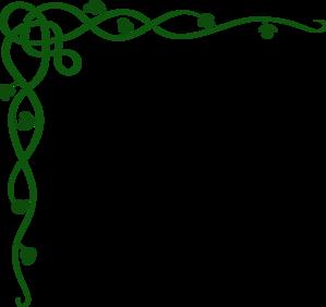 Bills Green Scroll clip art.