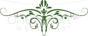 Green Iris Scroll Clipart.
