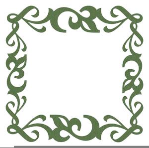 Green Scroll Clipart.