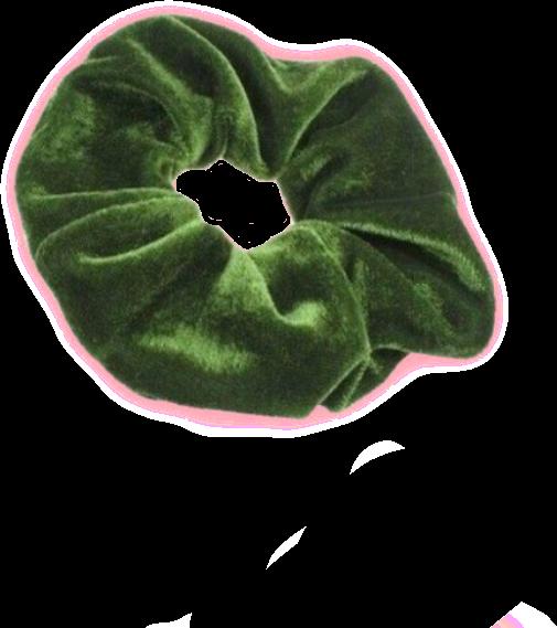 png scrunchie green greenscrunchie aesthetic niche nich.