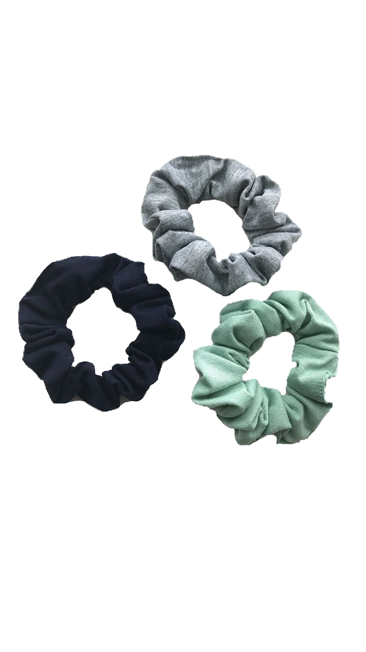 Scrunchies green grey black polyvore moodboard filler.