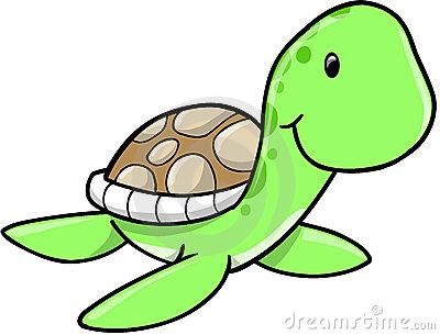 Cute Sea Turtle Clipart.