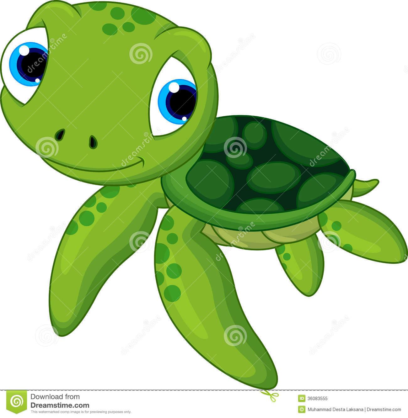 Green sea turtle clipart.