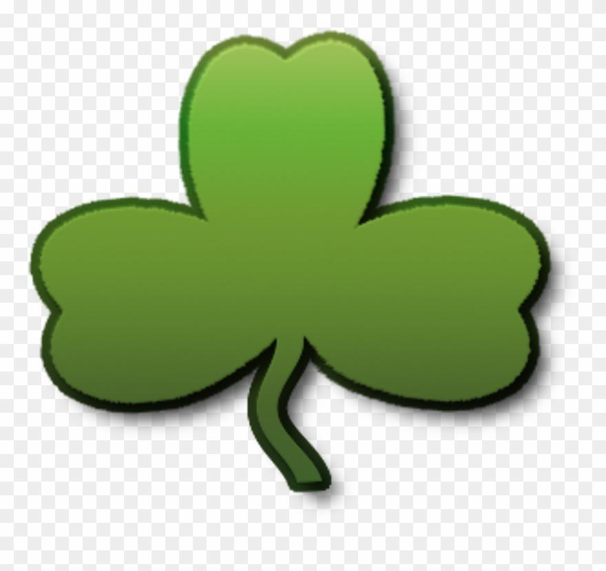 Shamrock St Patrick's Day Lucky Png Image.