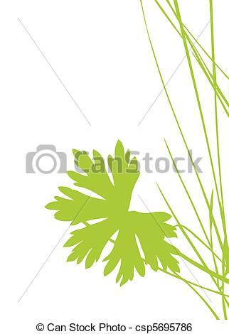 Clip Art Vector of green sheet on white background csp5695786.