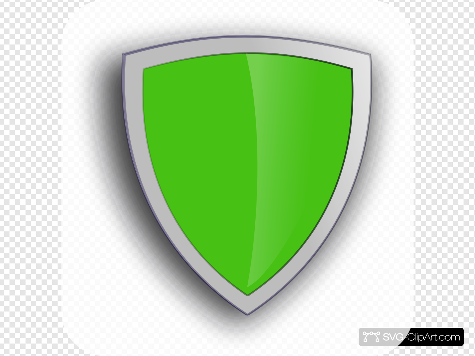 Green Shield Clip art, Icon and SVG.