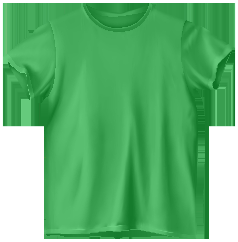 Green T Shirt PNG Clip Art.