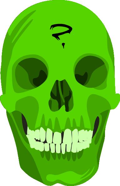 Liakad Green Skull clip art Free Vector / 4Vector.
