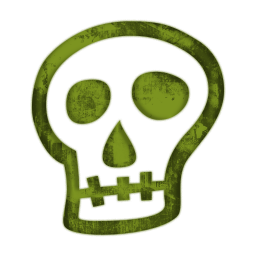 Green skull clipart.