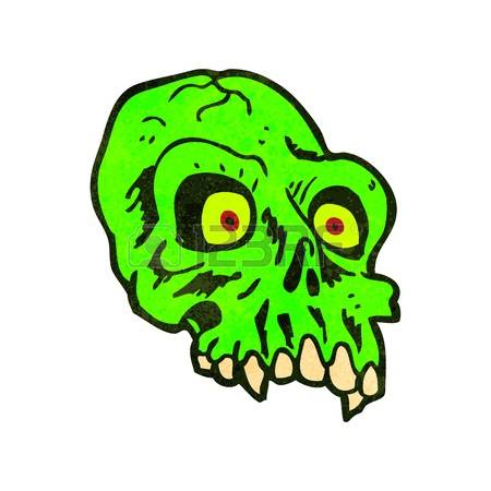106 Glowing Green Skull Stock Vector Illustration And Royalty Free.