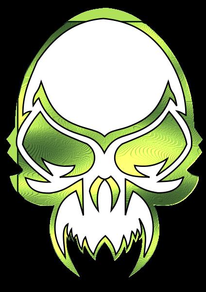 Metalic Skull Clipart, vector clip art online, royalty free design.