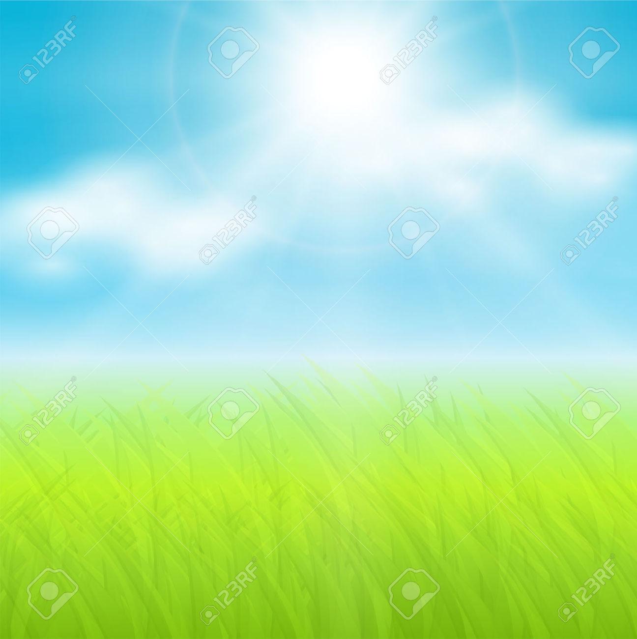 Sunny sky background clipart.