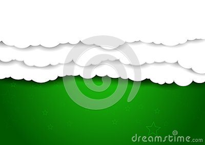 Clouds Over Green Sky.