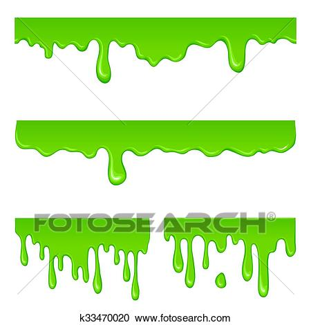 New green slime set Clipart.