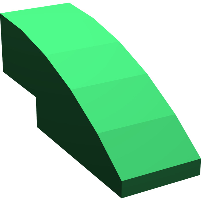 LEGO Green Slope Curved 3 x 1 (50950).