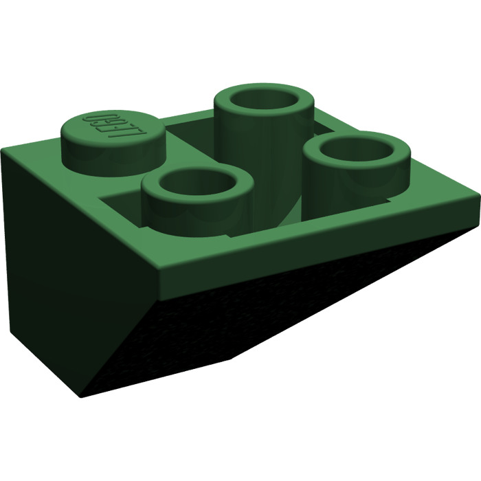 LEGO Dark Green Slope 45° 2 x 2 Inverted Double Convex (3676.