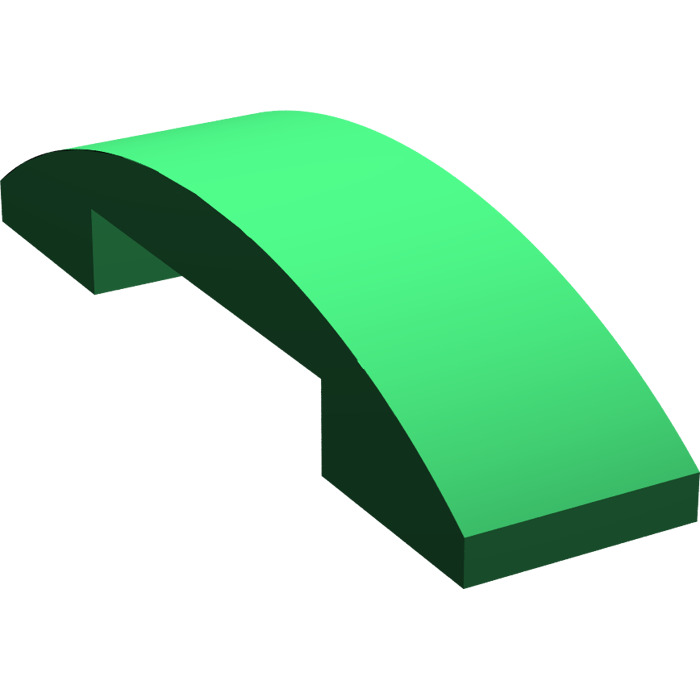 LEGO Green Slope Curved 4 x 1 Double (93273).