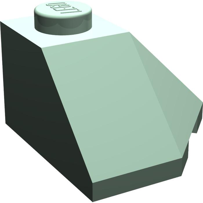LEGO Sand Green Slope 45 Wedge Corner 2 x 2 (13548).