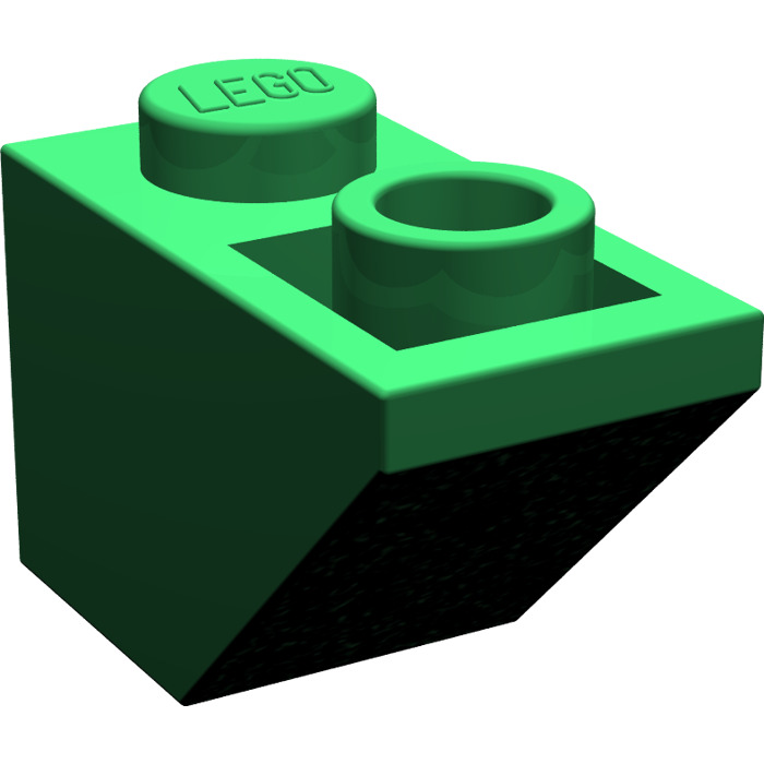 LEGO Green Slope 45° 2 x 1 Inverted (3665).