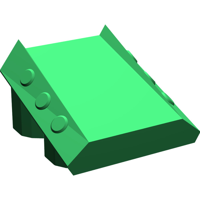 LEGO Green Slope 2 x 2 x 1 with Flanges and Pistons (30603.
