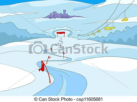 Ski slopes clipart.