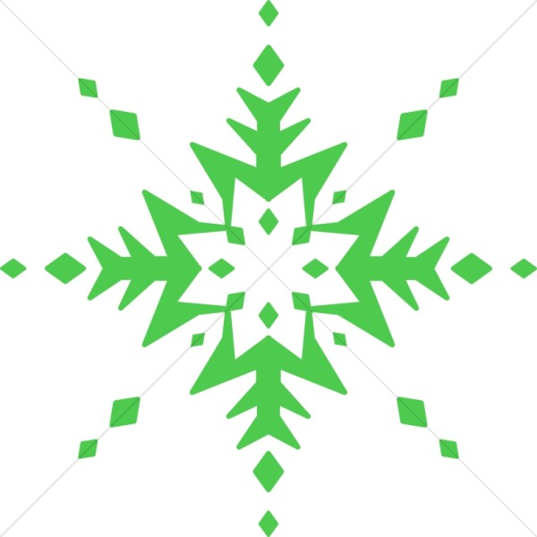 Extremely Green Snowflake.