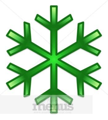 Green Snowflake Clipart.