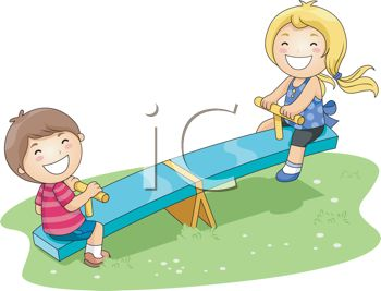 Kids parks green space clipart.