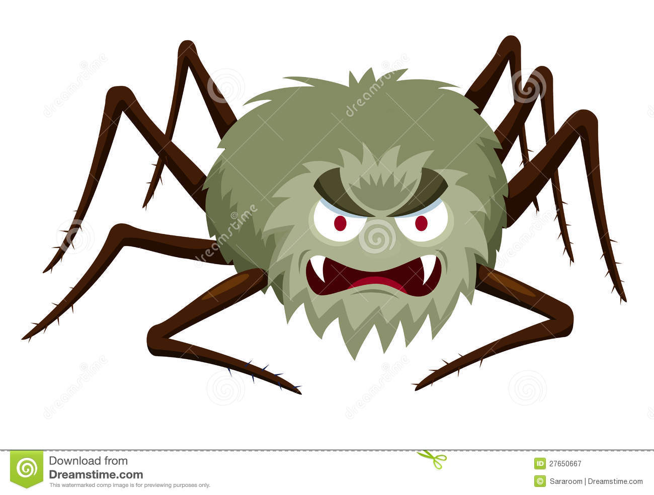 Cartoon Spider Royalty Free Stock Photography.
