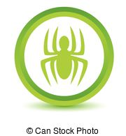 Lime green spider clipart.
